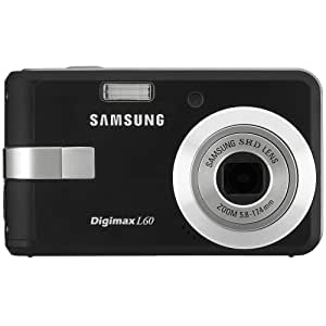 Samsung Digimax L60 6.0 MP Digital Camera with 3x Optical Zoom (Black)