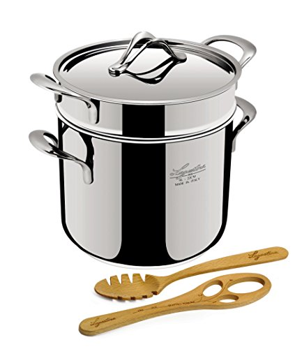 Lagostina Q55103 Pastaiola Stainless Steel Dishwasher Safe Oven Safe Pasta Stock Pot Cookware by Lagostina