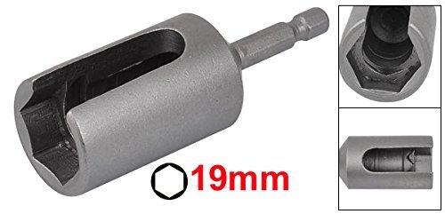 DealMux 80mm de largo 19mm Adaptador de tuerca hexagonal z/ócalo con ranuras de extensi/ón del controlador de bits