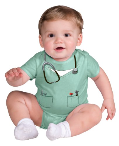 Rubie's Costume My First Halloween Doctor Onesie Costume, Green, Newborn
