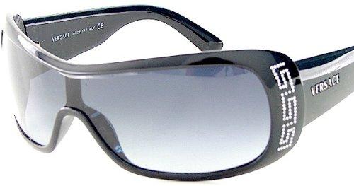 7a2dd678520 New Versace Sunglasses 4098B 4098-B Gb1 8G Black Lens Black Logo Frame Size   01-33-120  Amazon.co.uk  Clothing
