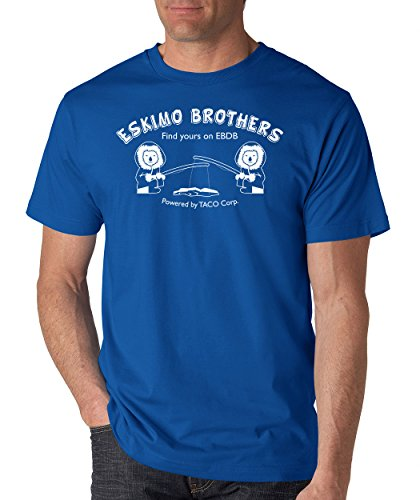 SignatureTshirts Men's T-Shirt Eskimo Brothers Tee (Large, Royal)