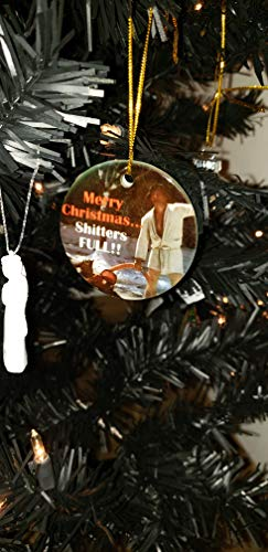 (32 & Willys Shitters Full Griswold 2.5 inch Ceramic Ornament | National Lampoons Christmas Vacation | Merry Christmas Shitters Full | Griswold | Christmas Tree | Decoration | Ornament)