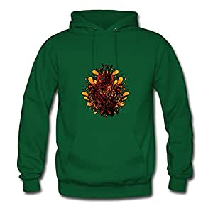 X-large Women Dragon_knight Fashionable Custom Green Cotton Sweatshirts
