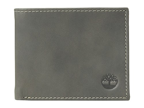 Timberland Mens Shorts - Timberland Men's Cloudy Passcase Wallet, Charcoal (Cloudy), One Size