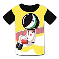 Astronauts at The Space Station Hot Weather Round Collar Short Sleeve Baby Tee Shirt