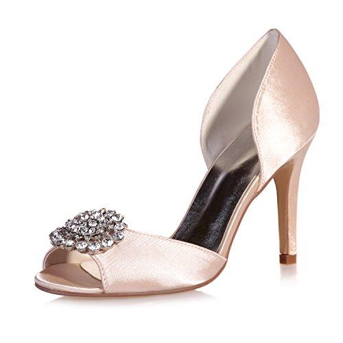scarpa della matrimonio champagne calzatura Signora alti damigella tacchi bocca Qingchunhuangtang scarpa banchetto pq4RKSOOf