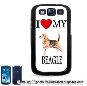 Beagle I Love My Dog Photo Samsung Galaxy S3 i9300 Case Cover Skin Black
