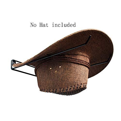 YYST Black Cowboy Hat Rack 5 pcs - No Hat ()