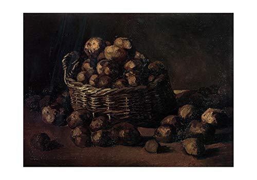 Spiffing Prints Vincent Van Gogh Basket of Potatoes, 1885 - Large - Archival Matte - Unframed
