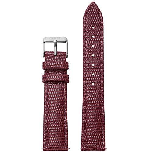 CLUSE La Boheme 18 mm Burgundy Lizard Leather Strap CLS078 Fits: La Boheme, La Roche & Pavane