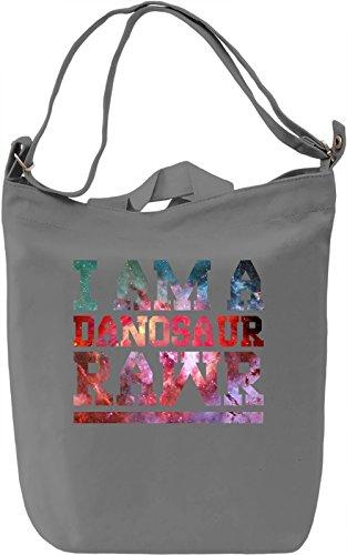 Danis Not On Fire Danosaur Borsa Giornaliera Canvas Canvas Day Bag| 100% Premium Cotton Canvas| DTG Printing|