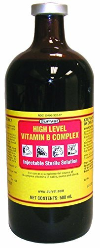 Durvet High Level Vitamin B Complex Injectable Farming Livestock Care 100ml