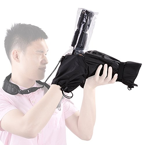 "Tycka Camera Rain Cover, can be connected to camera strap and Flash, with 10pcs Absorbent Paper, Rainproof Raincoat for DSLR Canon Nikon Sony Pentax Olympus and more (Lenses with Hood Up to 10"" Long)"