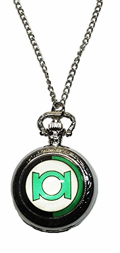 DC+Comics+Watches Products : DC's Green Lantern Shield Silver Tone Finish Pendant Pocket Watch