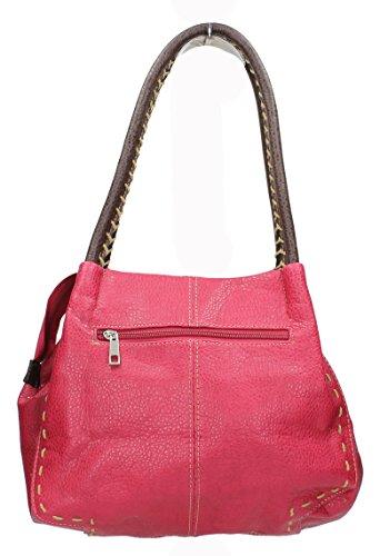 Faux Fuschia Faux Leather Boutique Leather Midas Detail Button Button Midas Boutique Handbag Handbag Fuschia Detail BBnFE6qwxz