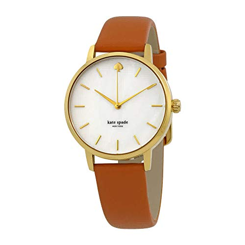 (Kate Spade New York Women's 'Metro' Quartz Stainless Steel and Leather Casual Watch, Color:Brown (Model: KSW1142))