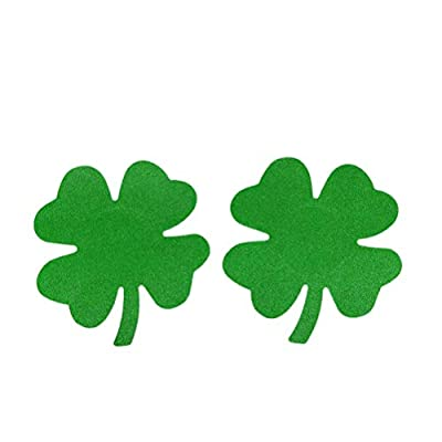 5 pair Four Leaf Clover Green Shamrock Self Adhesive St Patrick's Day Sexy Lingerie Pasties (5 pair)