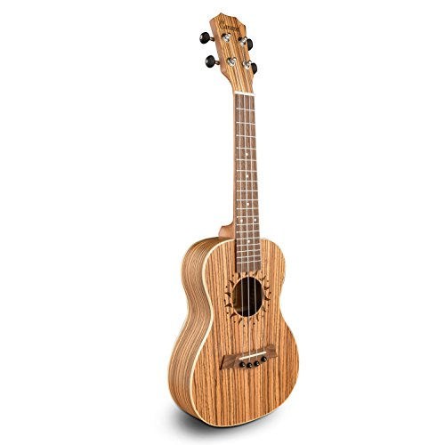 Caramel CT102A Zebra Wood Tenor Acoustic Ukulele With for sale  Delivered anywhere in USA