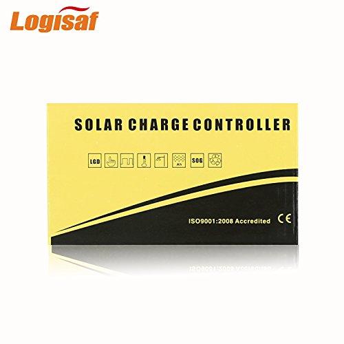 Logisaf 30A 12V/24V Solar Controller LCD Solar Panel Regulator Charge Controller Dual USB Port by Logisaf (Image #4)
