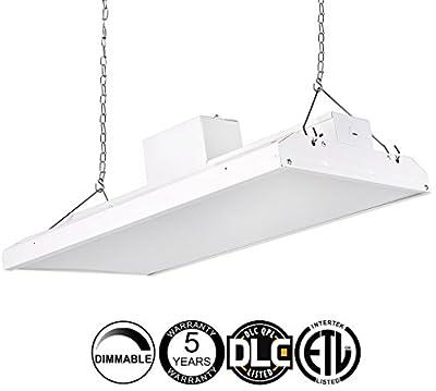 Veezy 4' LED High Bay Shop Light Fixture 5000K Dimmable Commercial Grade Warehouse Area Indoor Industrial Lights DLC Premium 4.2 Certified