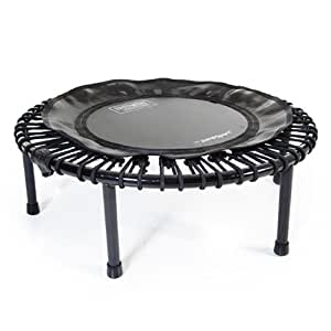 JumpSport 230F | Folding Fitness Trampoline, In-Home Rebounder | Easy Transport | No-Wobble Folding Hinge | Low Impact Workout | Top Rated for Quality & Durability | Music Workout Video Incl.