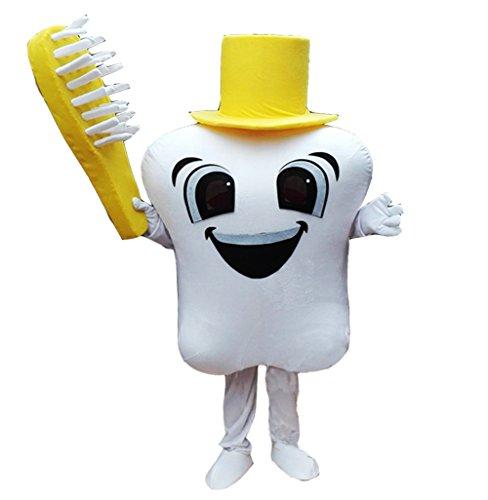 Huiyankej Tooth Mascot Costume Tooth Costume (XX-Large,
