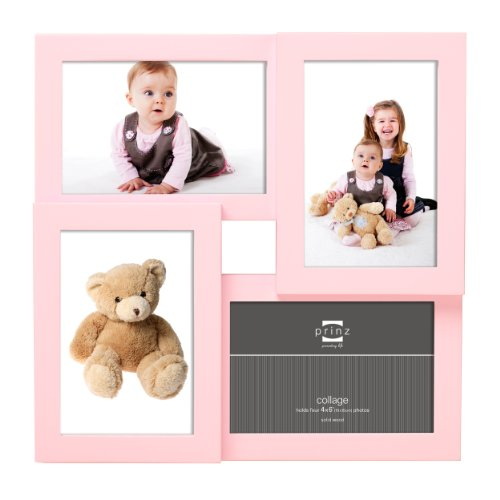 Prinz 4-Opening Peek-A-Boo Pink Collage Frame for 4-Inch by