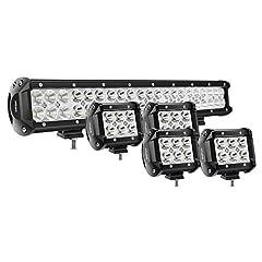 Specification: LED Power: 18W (6 x 3W High Intensity LED); Beam Pattern: Spot Beam; Lumen: 1260LM LED Power: 126W (42 x 3W High Intensity LED); Beam Pattern: Spot Flood Combo Beam Input Voltage: 9-30V DC (fits 12V, 24V vehicles) Working Lifes...