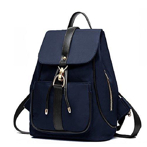 8af2de6ee4 Holly Store Nylon Waterproof Backpack Leisure Shoulder Bag Travel Bag Blue