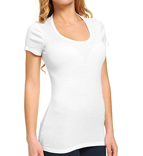 Splendid Supima Cotton Scoop Neck T-Shirt, X-LARGE, White