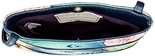 Zip Handbag Crossbody Ffts Women's Anuschka Mini Oct Double ocean Body Cross Treasures xwtw8a