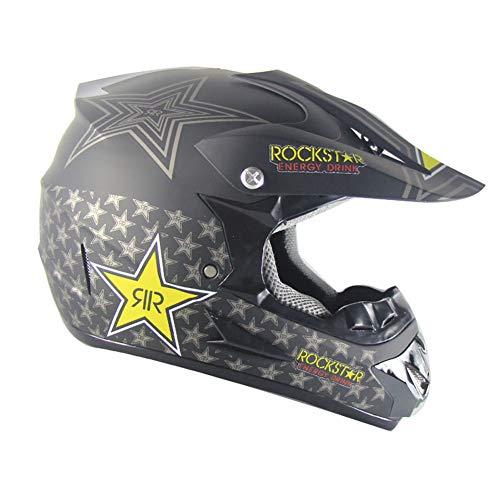 SHOW Cascos Todo Terreno-ATV Casco Moto Integral Ligero para Mujer Hombre Chica Motocicleta Vespa Scooter-Estrella de Cinco...
