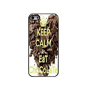 QHY Keep Calm and Eat Chocolate Design Aluminum Case for iPhone 5/5S