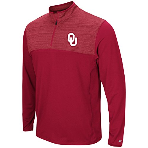 Colosseum Men's NCAA-Big and Tall Sizes-1/4 Zip Pullover Windshirt-Oklahoma Sooners-Crimson-2XL Big ()