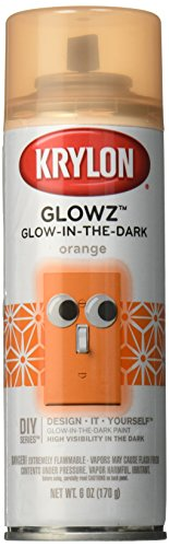 Krylon K03154007 Glowz Spray Paint, Glow-In-The-Dark Orange, 6 Ounce -