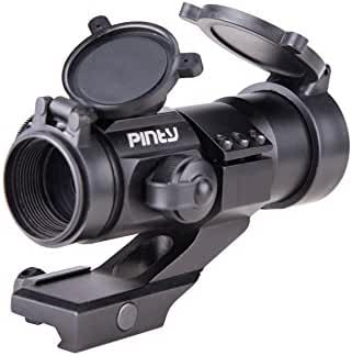 Pinty 4 MOA Red Green Dot Tactical Reflex Sight with Rail Mount