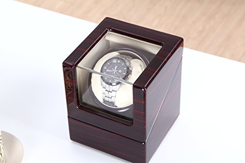 Love Nest Single Watch Winder Piano Finish Pure Handmade with Japanese Mabuchi Motor(Power Included) by LN LOVE NEST (Image #2)