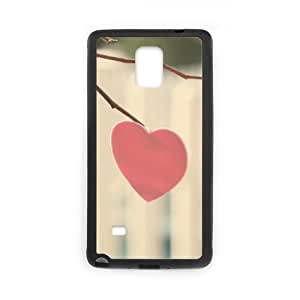 Pink Heart on the Tree Samsung Galaxy Note 4 Case, Case Vety {Black}