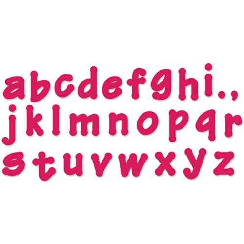 - Sizzix 657893 Lollipop Shadow Lowercase Alphabet Bigz Dies Series 2