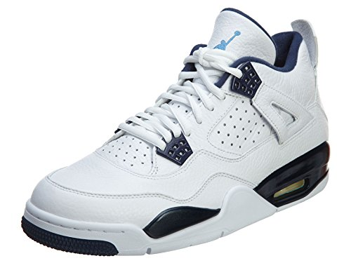 Nike Air Jordan 4 Retro LS, Scarpe da Basket Uomo Multicolore (Blanco / Azul (White / Legend Blue-mdnght Navy))