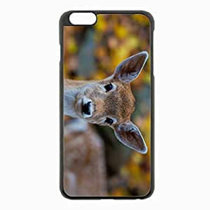 iPhone 6 Plus Black Hardshell Case 5.5inch - forest deer Desin Images Protector Back Cover