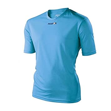 ATELIER DEL RICAMO Camiseta Fútbol Macron, Hombre, Azul Navy