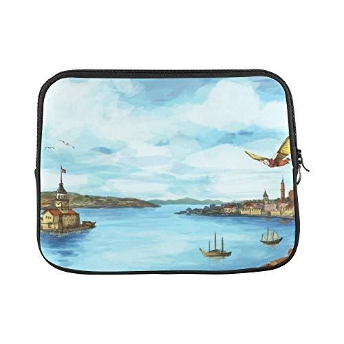 Design Custom Istanbul Panoramic Hezarfen Ahmed Celebi Sleeve Soft Laptop Case Bag Pouch Skin for MacBook Air 11