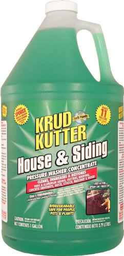 Weathering Solution (Krud Kutter HS01 Green Pressure Washer Concentrate House and Siding Cleaner with Mild Odor, 1 Gallon)