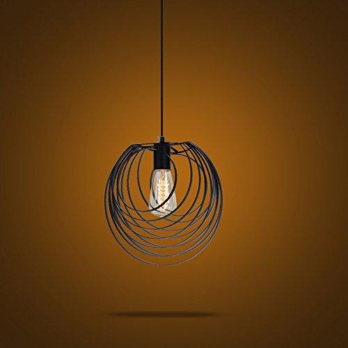 Industrial Cage One-light Pendant Light - LITFAD 12
