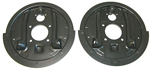 (BAF107 K-12-1) 64-81 GM Rear Axle Drum Brake Factory Backing Plates with Splash Shield Pair NOS by Inline Tube (Image #9)