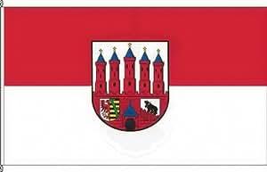 Pequeño Bandera zerbst/–20x 30cm–Calles y bandera