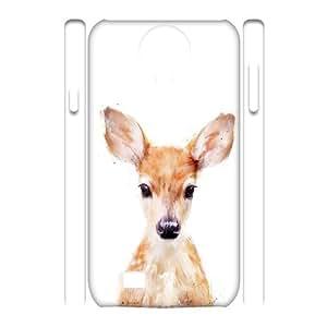 3D Samsung Galaxy S4 Cases Little Deer, DD [White]