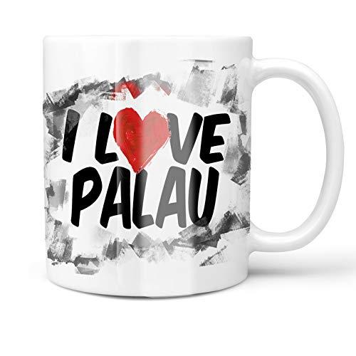 Neonblond 11oz Coffee Mug I Love Palau with your Custom Name